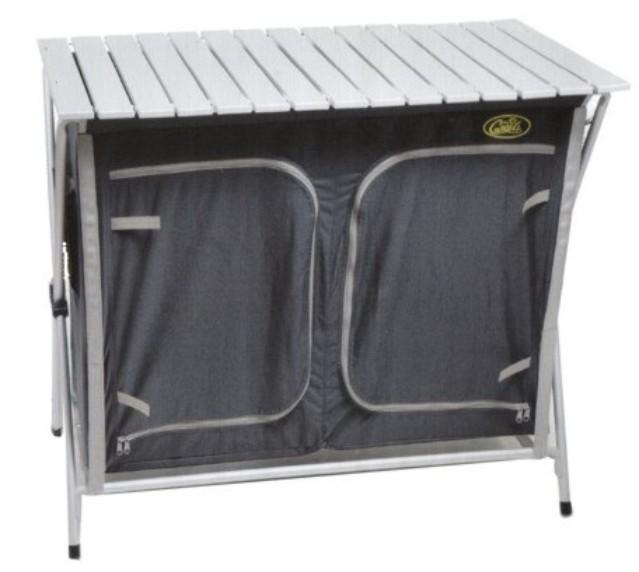 Cuccinella Quick Multfunktionsküche Schnell Aufbau System Campingkücke Grau